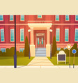 modern school building exterior welcome back to vector image
