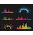 Music digital waveforms vector image