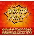 New comics style alphabet vector image