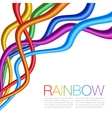 Rainbow Twisted Bright Vibrant Wares vector image