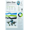 Simple template for your resume vector image
