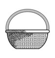 straw basket isolated icon vector image