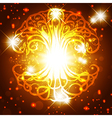 Tree of Life Golden Background vector image