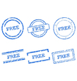 Free stamps vector image