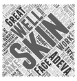 adeva skin care Word Cloud Concept vector image