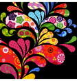 floral and ornamental drops vector image vector image