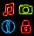 neon icon set vector image vector image