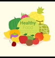 Healthy food background with fruits 3 vector image