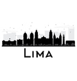 Lima City skyline black and white silhouette vector image