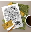 Corporate Identity Cafe set vector image