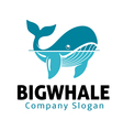 Big Whale Design vector image