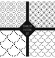 black white seamless pattern set vector image