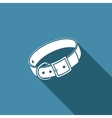 Dog collar icon vector image