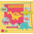 Scrapbook Design Elements - Baby Dinosaur Set vector image