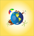 Summertime of travel on the world accessories vector image