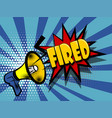 comic book text advertising megaphone fired vector image
