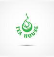 tea house logo vector image vector image