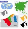 Brunei map vector image
