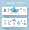 Set of doodle adventure banners vector image