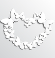 White Heart Butterflies vector image