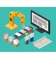 Development process web site interface vector image