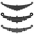 Vehicle leaf spring black symbols vector image