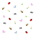 Collection of cartoon insects vector image