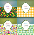 Set of abstract labels with pattern for the vector image vector image