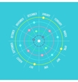 Circle timeline template infographic with months vector image