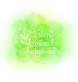 Fresh spring green watercolor background vector image