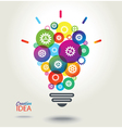 IDEA Colorful conceptual background vector image