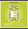 Infused water fruit recipe with kiwi vector image