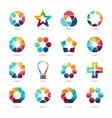 Logo templates set Abstract circle creative signs vector image