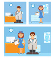 medical kit doctor and nurse staff vector image