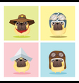 Set of dog in cute costumes vector image