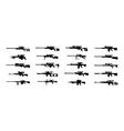 sniper rifles vector image