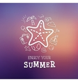 Summer trip poster design vector image