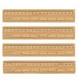 wood measuring rulers vector image