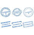 Vitamin A stamps vector image