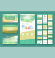 tropical summer web design template vector image
