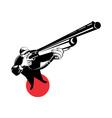 hunter aiming shotgun rifle vector image vector image