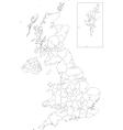 Outline United Kingdom map vector image