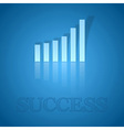 Blue Graph Up vector image vector image