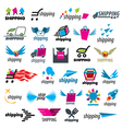 biggest collection of logos of shipping vector image