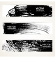 Brush texture handdrawing banner set vector image vector image