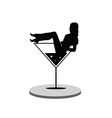 girl in martini on stage vector image