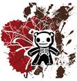 grunge teddy bones vector image