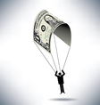 dollar Man Parachute vector image vector image