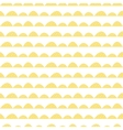 Scandinavian seamless yellow pattern in hand drawn vector image