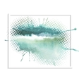 Abstract watercolor splash vector image vector image